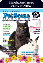 Las Vegas Pet Scene Magazine - March/April 2015 Inside This Issue: Pet Rabbits – Is one right for your home? Favorite Spring Hikes, Common Household Toxins, Tips for a Cleaner Bedroom, Children: Are You Ready For A Pet? Fun Things To Do In The Spring With Your Pet!, Miss Nevada USA… plus adoptable pets, coupons, pet events and much more!