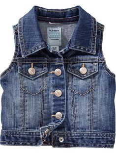 Old Navy | Button-Front Denim Vests for Baby