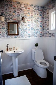 Before & After: A Country Home Gets A Powder Room & Living Room Update | Design*Sponge