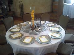 Outside decor brought in. Tuscan Hall provided only linen, table and chairs.