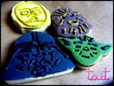 StarWars  #Cookies #StarWars #Yoda #C3PO #Chewbacca #Vader Babyshower, Chewbacca, Starwars, Sugar, Cookies, Desserts, Food, Events, Crack Crackers