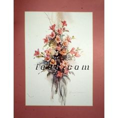 """FREE USA SHIPPING! Art Print By ROSALIND OESTERLE Bouquet of flowers FL2098 Size (22"""" x 28"""")"""