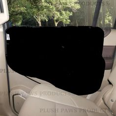 Plush Paws Products® Pet Car Door Cover for Cars, Trucks and SUV's - Black