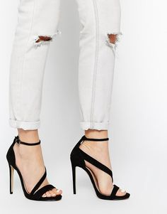 Carvela | Carvela Gosh Black Strap Heeled Sandals at ASOS