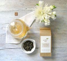 Organic White Peony Tea (Pai Mu Tan) • Luxury Loose Leaf White Tea by ArtfulTea • Mild, Delicate Flavor & Floral Aroma • Ultra Low Caffeine, High