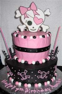 OK - A person is NEVER too old for a cute skull cake...