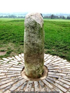 """Stone of Destiny"", at Tara (C) sarah gallagher :: Geograph Ireland"