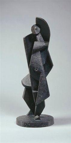 Jacques Lipchitz - LA BAIGNEUSE, bronze, dark... on MutualArt.com