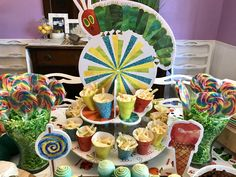 The Very Hungry Caterpillar Eric Carle birthday party ideas food table