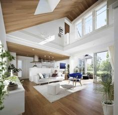 Home Interior Loft .Home Interior Loft Japanese Modern House, High Ceiling Living Room, Glass House Design, Home Decor Quotes, House Inside, Home And Deco, Cheap Home Decor, Home Remodeling, Interior Architecture