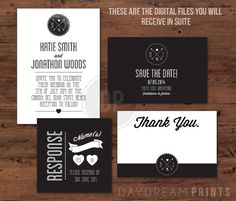 Modern Wedding Invitation DIY Printable