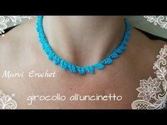Tutorial girocollo collana all'uncinetto,crochet necklace - YouTube