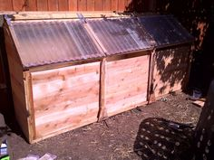 Chicken-Powered Three-Stage Compost Bin  I think that using clear or any transparent material for the top would lead to it getting too hot and stop the composting but that is easy to solve