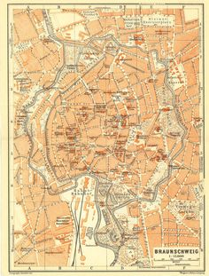 Items similar to 1914 Brunswick Original Antique City Map, Braunschweig, Germany, Karl Baedeker on Etsy Vintage Travel Posters, Vintage World Maps, Lower Saxony, Small Envelopes, City Maps, Antique Prints, Coat Of Arms, Travel Guide, Cities