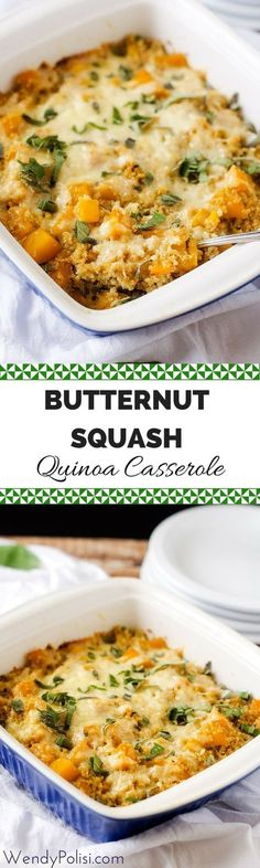 Butternut Squash Quinoa Casserole - This butternut squash casserole is one of my all time most popular recipes! Easy to make and so delicious, this is a meal the whole family will love! - WendyPolisi.com via @wendypolisi