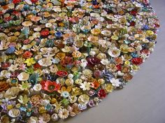4000 Ceramic Flowers Morph into Different Patterns- will be in Grand Rapid starting Sept 18th !