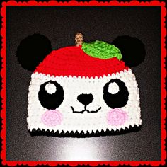 Crochet Pattern: Kawaii Panda Hat