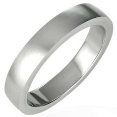 Men's Brushed Finished 4mm Stainless Steel Ring men's jewellery #mensfashion #mensjewellery