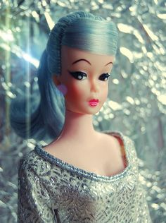 Blue Barbie!