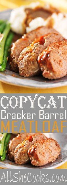 Copycat Cracker Barrel Meatloaf make this for dinner tonight. Easily one of the best meatloaf recipes.