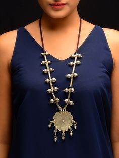 Buy Antique Silver Floral Tribal Banjara Necklace Old Mixed Metal Jewelry Fashion Feisty Finds Bold Kutch Online at Jaypore.com