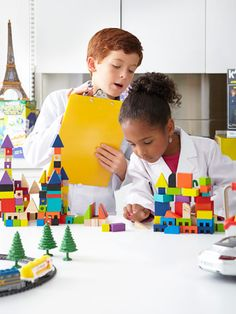 Keep kids entertained with this set of 50 wooden blocks. #archiquest