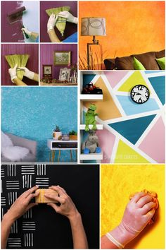 Trucos para pintar paredes con efectos. Descubre las mejores técnicas para conseguir paredes diferentes. #paredes #trucosdepintura #pinturas #decoratrucos #pintarparedes