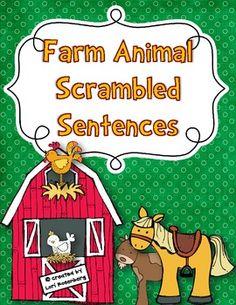 Farm Animal Scrambled Sentences