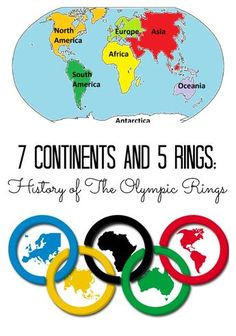 Story of the Olympic Rings with Free Printable Why are there 5 rings of the Olympic Games? Explore the continents of Olympic Games with FREE PrintableWhy are there 5 rings of the Olympic Games? Explore the continents of Olympic Games with FREE Printable Kids Olympics, Winter Olympics, Summer Olympics Sports, Olympic Idea, Olympic Games For Kids, Olympic Crafts, Thinking Day, Summer School, In Kindergarten