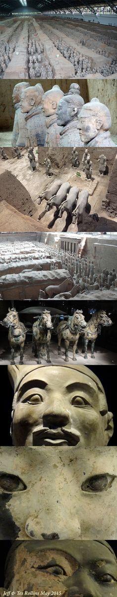 秦始皇兵马俑 Museum of the Terra-cotta Warriors and Horses of Qin Shihuang in 西安, 陕西 Ancient World History, Art History, Ancient Ruins, Ancient Artifacts, Ems World, Terracotta Army, Asia Continent, China Travel, Ancient Civilizations