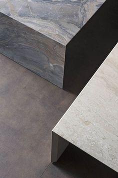 Low #marble coffee table TERRAE by Flou | #design Pinuccio Borgonovo @flouspa