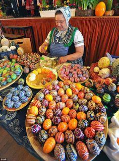 Russian pysanky eggs: inkspired musings: Easy Easter pretties and activities