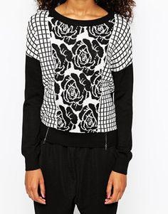 Enlarge Vero Moda Rose Print Sweater