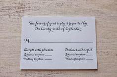 Wedding RSVP Cards Archives - Custom Letterpress Wedding Invitations | Your…