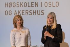 Crown Princess Mette-Marit of Norway attends 'Girls And Technology' (Jenter og teknologi) Conference on February 10, 2016 in Oslo, Norway.