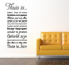 Ontwerp muursticker | muurtekst Living woonkamer | decoratie ...