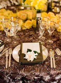 rosette table cloths