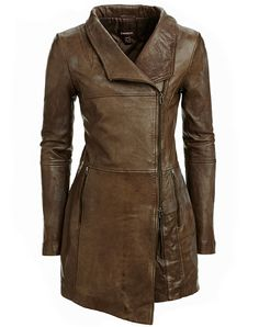 Very stylish long Danier brown leather jacket Fashion Mode, Look Fashion, Winter Fashion, Womens Fashion, Mode Top, Jackett, Mode Inspiration, Leather Fashion, Blazer Jacket