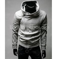 Men's Plus Size Solid Sweatshirt, Long Sleeve 2016 - $15.99