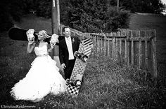 Snowboarder Wedding