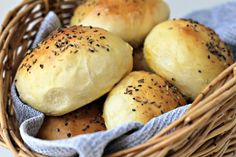 Milk and Honey: Light Wholemeal Brioche Rolls with Black Sesame, Fennel and Cumin Seeds