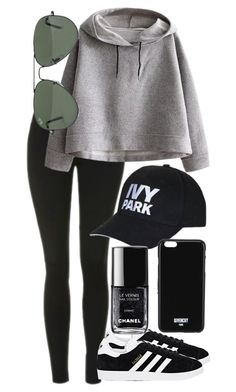 """""""Untitled #568"""" by clary94 ❤ liked on Polyvore featuring Topshop, WithChic, adidas, Ray-Ban and Givenchy"""