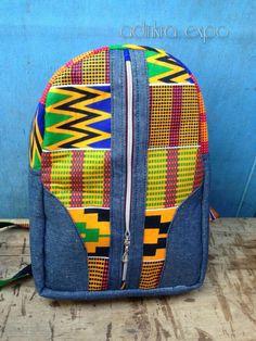 Kente Mini Ankara Backpack/ Bookbag/ Rucksack/ School Bag/ Back pack by AdinkraExpo on Etsy
