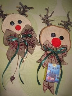 Φωτογραφία της Ευαγγελία Γούπου. Christmas Arts And Crafts, Wooden Christmas Ornaments, Christmas Decorations, Holiday Decor, Home Crafts, Diy And Crafts, Christmas Mood, Craft Activities, Projects To Try