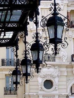 Lanterns in Paris.