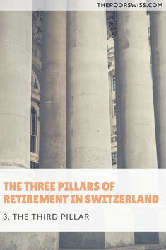 The retirement system in Switzerland is based on three pillars. The third pillar is a tax-advantaged retirement account, with voluntary contributions. Retirement Accounts, Save Money On Groceries, Early Retirement, The One, Switzerland, Two By Two, Fire, Posts, Logo