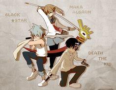 Black Star, Maka, Kid