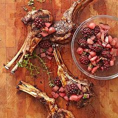 "Lamb Chops with Blackberry-Pear Chutney | How To Clean Your BBQ Smoker ""How To"" Guide to BBQ & Smoker Projects & Recipes  