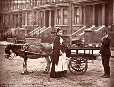 These fascinating black and white pictures taken by photographer John Thompson show the reality of existence in the 1800s when photography was in its infancy. In 1876 he set out with writer Adolphe Smith and together the pair spoke to people and the shots were later published in magazine, Street Life in London. The pictures, now stored at the Bishopsgate Institute, capture the lives of street beggars, chimney sweeps, street doctors and market sellers among many others.