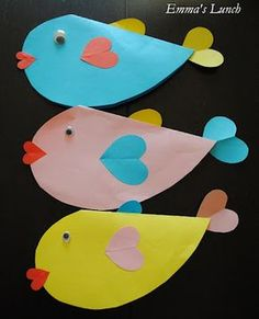 Fish heart greeting cards School Projects, Projects For Kids, Diy For Kids, Art Projects, Crafts For Kids, Creative Crafts, Diy And Crafts, Arts And Crafts, Paper Crafts